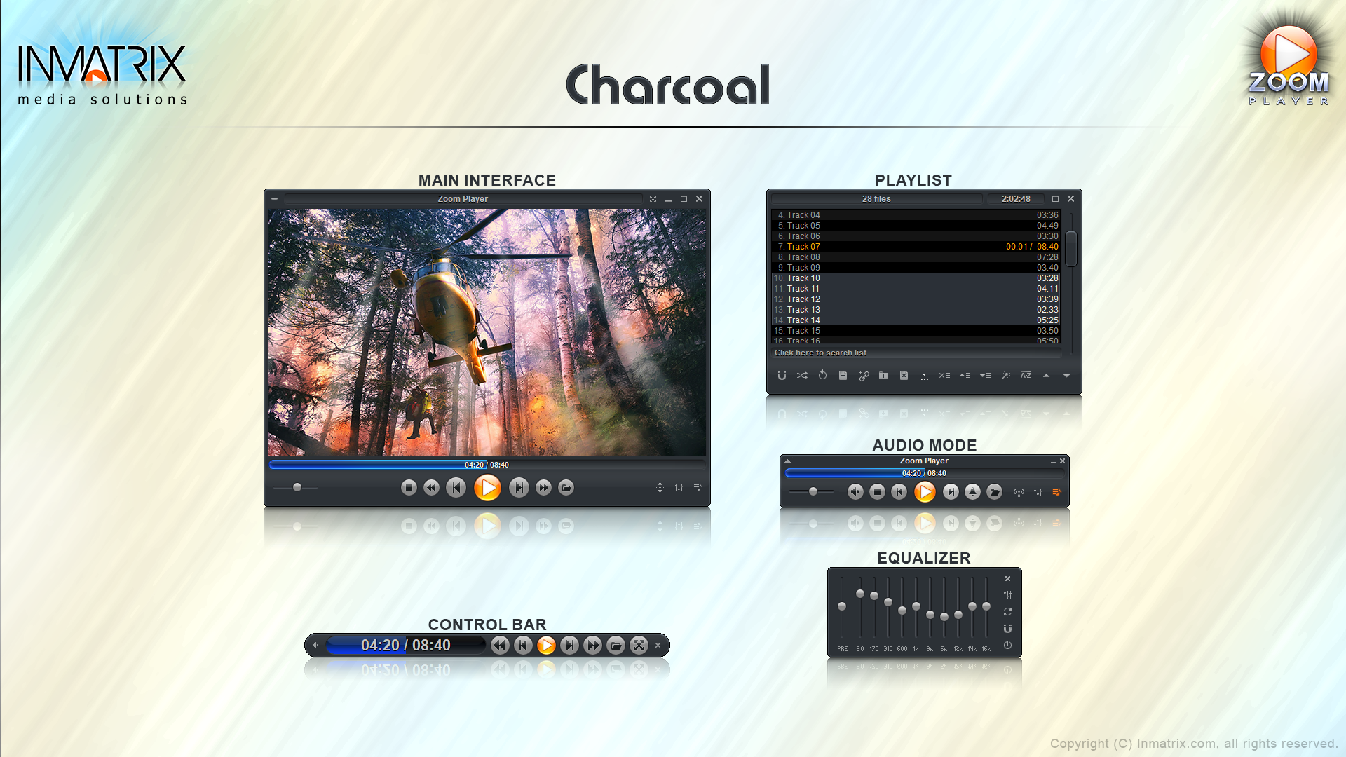 Zoom Player's Charcoal skin